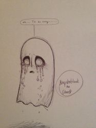 Napstablook the Ghost by MapleDemon