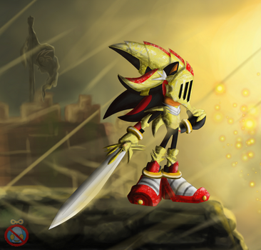 Shadow The Hedgehog With A Sword