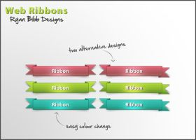 Web Ribbons by ryanbdesigns