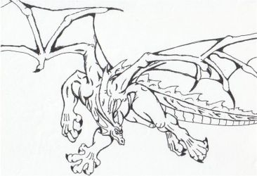 Pen dragon by Twylyght99
