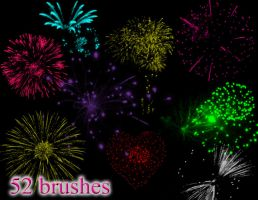 Fireworks Brush 2 by mandykat