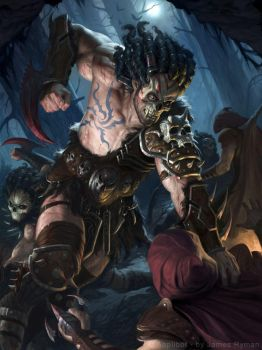 Ghoulish Barbarian by namesjames