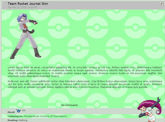 Team Rocket Journal Skin by Blueranyk
