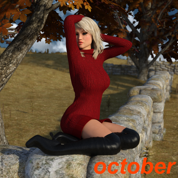 Sunny Weathers Heat Wave Calendar - October by lilacwren