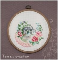 Cross-stitch ''Home'' by Taisa-Winged