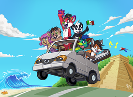 Mexico Roadtrip by pandapaco