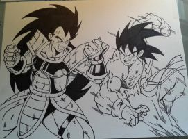 Goku Vs Radits Inks by MikeES