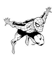 SPIDER-MAN Graphic Inks by LostonWallace