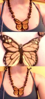 Butterfly Necklace by bingles