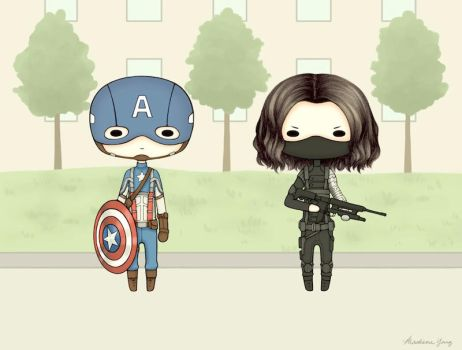 [Commission] Captain America and Winter Soldier by ShadowSeason
