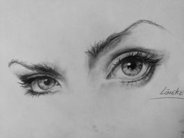 Female eyes by Lineke-Lijn