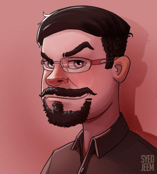 Art Style Study Turned Self Portrait by SyedJeem