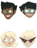 Alpha Expression Stickers by TheMockingCrows