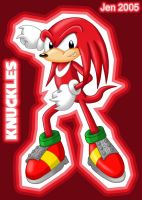 :KNUCKLES THE ECHIDNA: by JenHedgehog