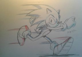 Sonic The Hedgehog Sketch by MikeES