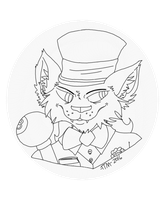 Gangster Cat in a top hat WIP Digital by TatterTotMinion