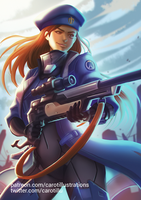 Ana (SFW Version) - Overwatch by CAROTdrawsthings