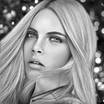 Cara Delevigne Drawing by JoeDieBestie