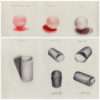 Spheres and Cylinders study by crayon2papier