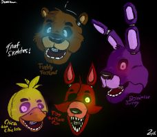 FnAF Head Sketches (1) by Shimazun