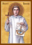 St. Bruno icon by Theophilia