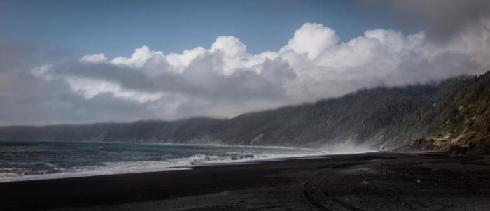 black sands and blue skies by dresdenblue