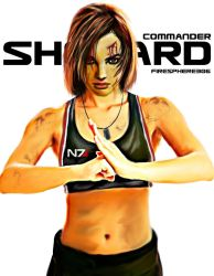 commander shepard-Digital Painting by Firesphere306