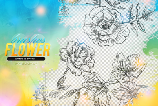RECURSOS/BRUSHES/FLOWERS/#4 by Upwishcolorssx