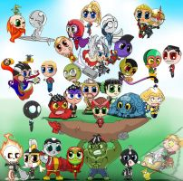 Chibi: mightiest heroes in the Marvel Universe by Tanis-WAR