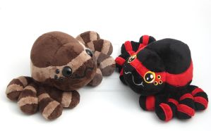 Cuddly, floppy little spider plushies by SugarcubeCherry