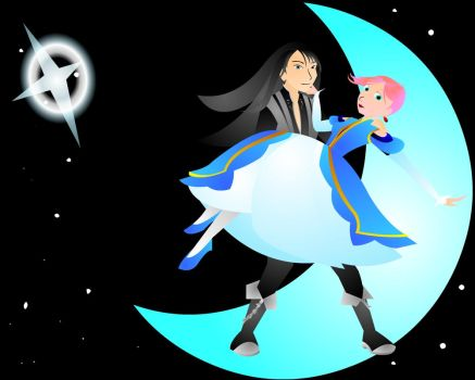 Desktop: Over the Moon by PolicromaSol