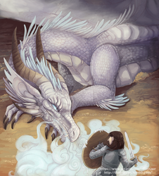 Janine and the Dragon by Liliroo