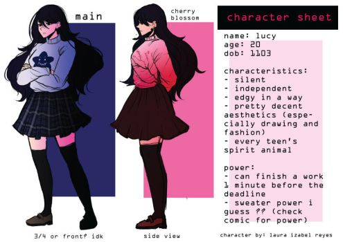 Lucy Character Sheet ? by AteTakaa