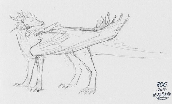 Folded Wings by wolfgryph