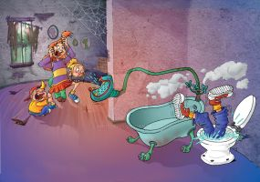 Bathroom's tales by CARUTOONS