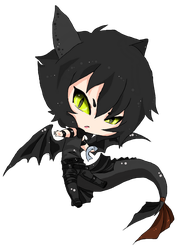 Chibi Toothless colored by beelzezlover