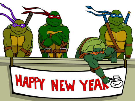 Image result for happy new year ninja turtles