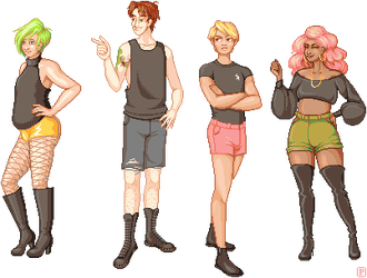 Shorts and Boots by pinstripe-pixels