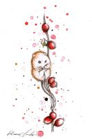 Berry Mouse by eleanor-tomlinson