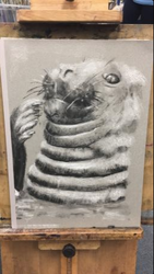 Cute charcoal Seal by Und3rline