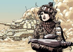 SanEspina Desert girl color by santiagocomics