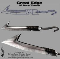 Great Edge 3D weapon by macawnivore