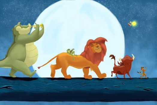 The Lion King feat. The Princess and the Frog by amandaloreeart