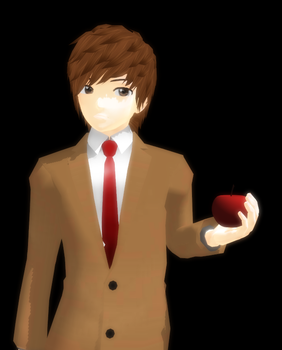 MMD Light Yagami model +DL by FlyingCaptainArrow