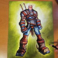Commission: Witcher - Copics by RobDuenas