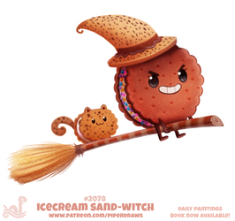 Daily Paint #2078. Icecream Sand-Witch (Updated) by Cryptid-Creations