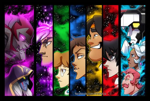 Voltron: Legendary Defender busts by syrusbLiz