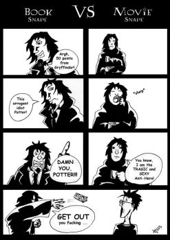 Book Snape VS Movie Snape by EvilSeverus