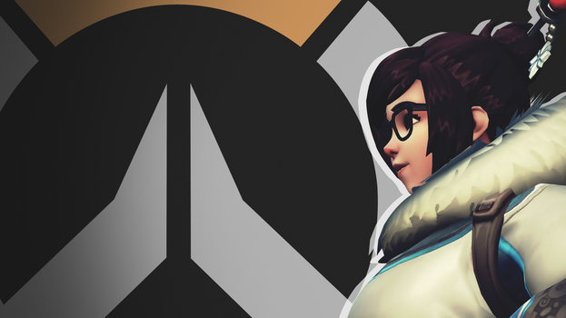 Overwatch Side Profile Wallpaper - Mei by PT-Desu