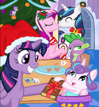 Twilight Sparkel Flurry Heart Chrismas in Ms-Paint by sallycars